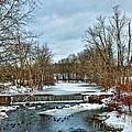 Winter At The Mattabeset River by Marcel  J Goetz  Sr