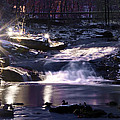 Winter At The Woodlands Waterfall In Wilkes Barre by Bill Cannon