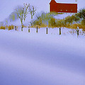 Winter Barn by Ron Jones