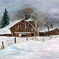 Winter Barns by Carol Komassa