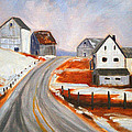 Winter Barns by Nancy Merkle