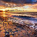 Winter Beach Sunset by Alexis Birkill