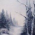 Winter Birches by Peggy King