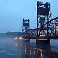 Winter Bridge In Fog by Tim Nyberg