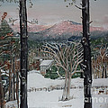 Winter - Cabin - Pink Knob by Jan Dappen