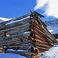 Winter Cabin by Tonya Hance