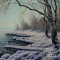 Winter Coming On The Riverside by K Gabris