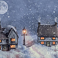 Winter Cottages In Snow by Amanda Elwell