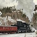 Winter Crossbuck Crossing by Ken Smith