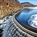 Croton Dam At Winter by Barbara Budzinski