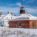 Winter Day At West Quoddy Head Light by Susan Cole Kelly