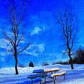 Winter Day On Canvas by Dan Sproul