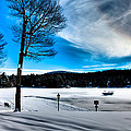 Winter Day On Old Forge Pond by David Patterson