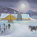 Winter Evening At Evergreen Lakehouse by Scott Deuty