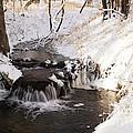 Winter Falls On Big Stone Lake  by Lori Tordsen