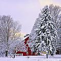 Winter Farm Scene by Timothy Flanigan