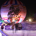 Winter Gardens Ice Rink And Balloon Bournemouth by Terri Waters