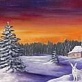 Winter Hare Visit by Anastasiya Malakhova