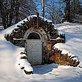 Winter Hobbit Hole by Michael Porchik