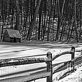 Winter Hut In Black And White by Paul Ward