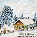 Winter Idyll With Text by Christine Huwer