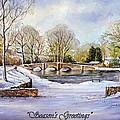 winter in ashford Derbyshire by Andrew Read