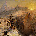 Winter In Switzerland by Jasper Francis Cropsey