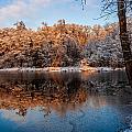 Winter Lake Reflections by Julis Simo