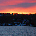 Winter Lake Sunset by Richard Bryce and Family