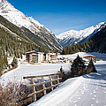 Winter Landscape In Pitztal Valley Austria by Matthias Hauser
