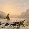 Winter Landscape by Mortimer L Smith