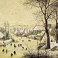 Winter Landscape With Skaters And A Bird Trap by Pieter Bruegel the Elder