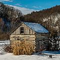 Winter Logcabin by Paul Freidlund