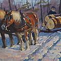 Winter Logging by Len Stomski