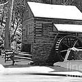 Winter Mill In Black And White by Paul Ward