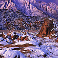 Winter Morning Alabama Hills And Eastern Sierras by Dave Welling
