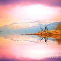 Winter Morning At Okanagan Lake by Tara Turner