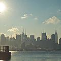 Winter Morning On The Hudson by Zina Zinchik