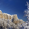 Winter Mountain Landscape by Ioan Panaite