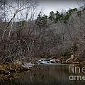 Winter On The Eno River At Fews Ford by Sandra Clark