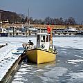 Winter On The Sea Side In Denmark by Jean Schweitzer
