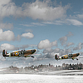 Winter Ops Spitfires by Gary Eason