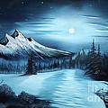 Winter Painting A La Bob Ross by Bruno Santoro