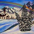 Winter Rainbow by Barbara Griffin