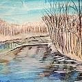 Winter River Scene by Linda Waidelich