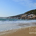 Winter Sand Beach Acadia by Meandering Photography
