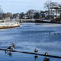 Winter Scene Jersey Shore Town by Maureen E Ritter