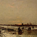 Winter Scene by Ludwig Munthe