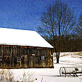 Winter Scenic Farm by Christina Rollo