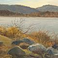 Winter Shoreline Rockland Lake by Phyllis Tarlow